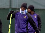 Absent: Mario Balotelli missed Manchester City training on Tuesday with a virus