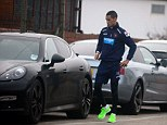 Speedy... and the car's not sluggish either: Blackpool winger Tom Ince with his new Porsche