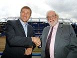 Back in the day: Roman Abramovich (left) took control of Chelsea from now Leeds owner Ken Bates