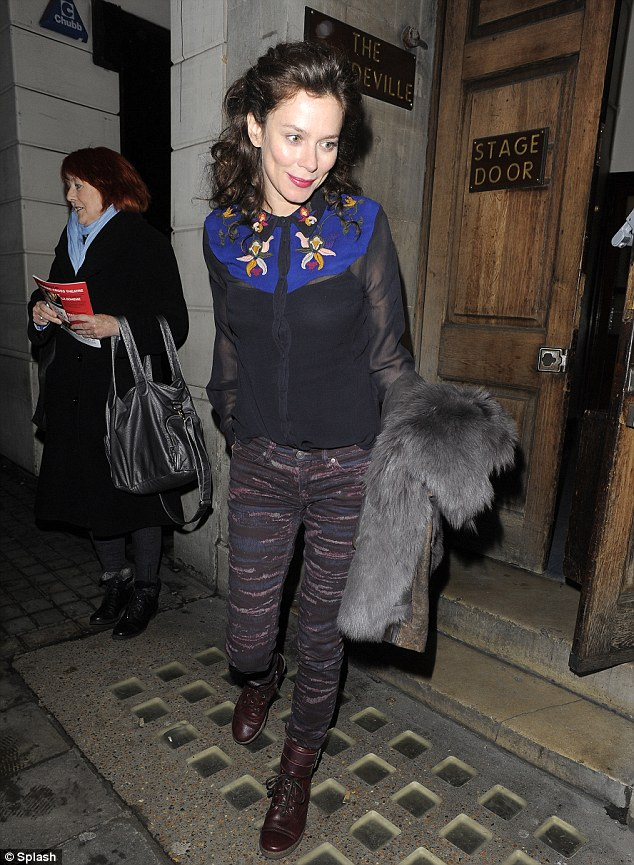 Not a good week for fashion choices: Anna wore a slightly ill-advised mismatched outfit as she left the theatre on Thursday night
