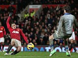 It's there: Javier Hernandez pounces to hit the winner for Manchester United against Newcastle