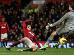 Decider: Javier Hernandez struck the late winner in typically clinical fashion
