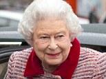 Public appearance: The Queen was last seen in public boarding a train to Norfolk in London three days ago