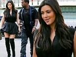 Kim Kardashian and her boyfriend, rapper Kanye West