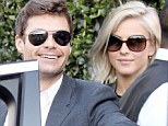 Birthday boy: Ryan Seacrest celebrated turning 38 with his girlfriend Julianne Hough at Cecconi's in West Hollywood on Monday