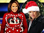 'I wear my best Christmas sweater today!' Festive Katie Couric lights up show... and shares picture on Twitter