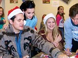 Sweet charity: Katy Perry and John Mayer visited a local hospital in her hometown of Santa Barbara to help out the Dream Foundation on Saturday
