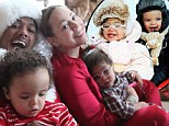 Presents everywhere! Mariah Carey shares family Christmas snaps of 'Dem Babies' in Aspen