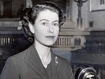 First of many: The Queen pictured at the microphone during her inaugural Christmas message in 1952 which was broadcast in sound only on TV