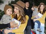 A family united! Orlando Bloom and Miranda Kerr look happier than ever as they leave friend's house with baby Flynn