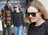Super Skinny Kate Bosworth steps out for a Fatburger with fiancé Michael Polish