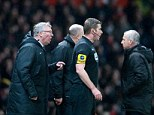 Poor decision: Ferguson was unhappy with the officials after Evans's controversial own-goal