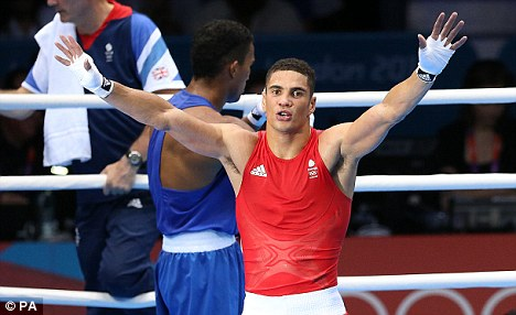 Good effort: Ogogo salutes the crowd after losing to Esquiva Falcao Florentino