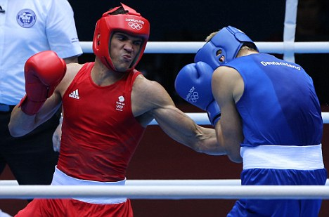 Got the skills: Ogogo (left) believes he could make it in the professional game