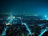 Lit up: Paris is at risk from losing its trademark glow if plans go ahead to turn off street light in the early hours of the morning