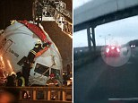 The Moscow plane crash - caught on camera