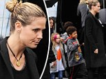 Everybody out of the van! Heidi Klum and her brood heads escapes the LA rain for a warm Italian breakfast