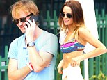Malfoy magic! Harry Potter alum Tom Felton relaxes with his stunning bikini-clad girlfriend Jade Olivia