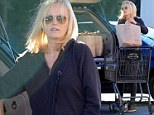 Shopping for two! Pregnant Malin Akerman is low-key in all black as she stocks up on groceries