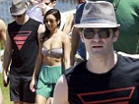 Matthew Morrison and Renee Puente on Bondi Beach