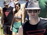 Matthew Morrison and Renee Puente on Bondi Beach