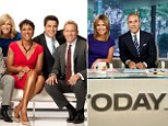 Winners: Good Morning America's team, pictured, beat the Today show in the ratings after 16 years in April