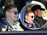 It's a ruff life! Fergie and her pet pooch get chauffeured around town by her hunky husband Josh Duhamel