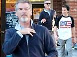 Pierce Brosnan and son Paris do some post Christmas shopping in Malibu - actor still sporting Santa inspired facial hair