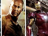 Bruce Willis and iron Man