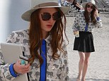 Made in Chelsea's Rosie Fortescue spends a day at the beach with her family in Miami Beach