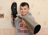 Despite undergoing gruelling chemotherapy Kieran had his left leg amputated below the knee in March last year