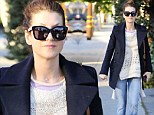 Private Practice star Kate Walsh, 45, shows off her slender frame in oversize coat on shopping trip