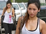 Working up a sweat: Brenda Song flaunts her toned figure after Studio City gym session