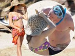 Caribbean kisses! Channing Tatum plants a tender one on bikini-clad pregnant wife Jenna Dewan