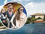 A Christmas Pitt-stop! Brad and Angelina Jolie 'bring 12 nannies' to look after their six children during Caribbean getaway