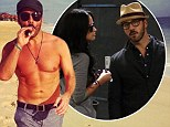 Back to reality! Jeremy Piven heads back to rainy LA... after showing off beach body during Mexico break