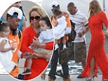 Diva walks the plank! Mariah Carey dons formal red gown and sky high heels... for family sailing trip aboard yacht in Australia