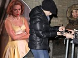 Purrfect manners! Scarlett Johansson happily signs autographs for fans as she leaves Cat on a Hot Tin Roof performance