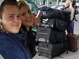 Spencer Pratt and Heidi Montag arrive at London Heathrow