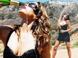 Cindy Crawford douses herself with champagne during edgy New Year's Eve photo shoot
