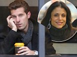 Coffee for one: Jason Hoppy was spotted sitting in a New York cafe by himself on Thursday