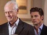 End of an era: Actor Larry Hagman is seen in his final scenes in the second season of Dallas, alongside his onscreen son John Ross (Josh Henderson)