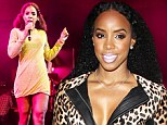 Celebs kick off NYE weekend! Kelly Rowland takes the plunge in leopard print jacket and leather trousers in Las Vegas