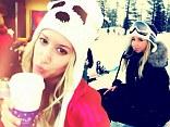Ashley Tisdale goes snowboarding