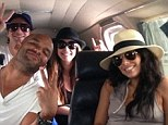 New Year trip: Eva Longoria posted a picture of herself jetting to the Bahamas with a group of friends to see in 2013