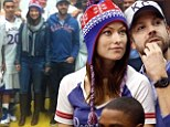 'That was the coolest meet and greet!' Olivia Wilde cuddles in the stands with boyfriend Jason Sudeikis... and later mingles with team in locker room