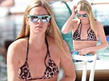 Wild thing! Nicky Hilton strips down to daring animal print bikini... while lounging in Miami with boyfriend James Rothschild