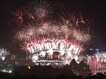 Fireworks explode over and around the Sydney Harbour Bridge and Sydney Opera House during New Year celebrations on January 1