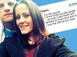 'I love her with all my heart': Husband of Teen Mom 2 star Jenelle Evans tweets they're NOT split