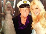 And the bride wore... a VERY revealing dress! Crystal Harris shares photos of the fishtail gown she married Hugh Hefner in